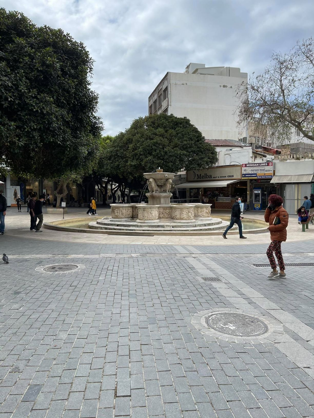 Heraklion City Center Excursion Vibes The lions square in Heraklion city center